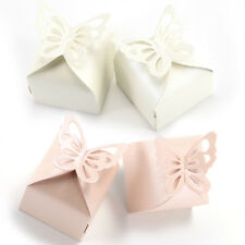 50 Butterfly Favour Gift Candy Boxes For Bomboniere Wedding Party Baby Shower