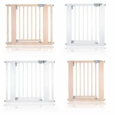 Safetots Chunky Wooden Pressure Fit Stair Gate 74 -97cm Safety Baby Barrier