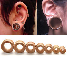 1/2 pcs Organic Wood Double Flared Ear Plugs Tunnels Expander Stretcher Gauges
