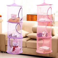 Hot 3 Shelf Hanging Storage Net Kids Toy Organizer Bag Bedroom Wall Door Closet