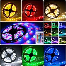 5M 3528/5050 SMD 150/300/600 LEDs Waterproof Flexible Strip Fairy Light + Remote