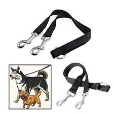 Nylon Double Lead Coupler Twin Dog Two Pet Dog Walking Duplex Leash Splitter GTA