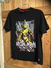 "T Shirt Size M Chest 36"". In Black Marvel. Iron Man Motif Marvel Extreme"
