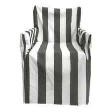 RANS Outdoor Chairs NEW Alfresco Striped Cotton Chair Cover