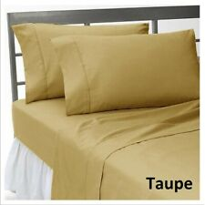 HOTEL QUALITY BEDDING ITEMS 1000TC EGYPTIAN COTTON SELECT ITEM&SIZE TAUPE SOLID