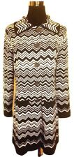 NEW! Missoni Heavy Knit Long Sweater Coat w/ pockets - Black Gray Space-dye