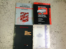 1996 TOYOTA 4RUNNER 4 RUNNER Service Shop Repair Manual Set W EWD & AC Book + x