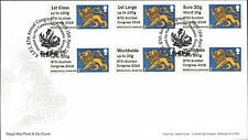 GB 2016 POST & GO FDC 87TH SCOTTISH CONGRESS HERALDIC LION UNION FLAG MACHIN