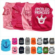 Hot Small Pet Dog Cat Clothes Puppy Dog Various Summer Vest T Shirt Coat Apparel