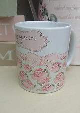 Personalised China Mug With a Shabby Chic Design -Perfect Gift For Any Female