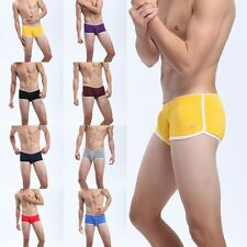 Sexy Men Boy Soft Cotton Briefs Underwear Embroidery Boxer Brief Underpants S-XL