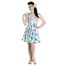 Hell Bunny Suki Blue Mini Dress - Womens Summer Dress - Alternative Dress