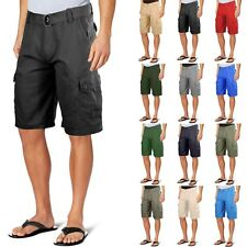 One Tough Brand Mens CLASSIC CARGO SHORTS Cotton Twill Belted  Colors Size 30-42