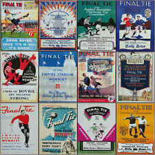 FA Cup Final Programme Cover (Reprint) football cards 1923 to 1970 - VARIOUS