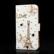 Luxury PU Leather Case Diamond Crystal Stand Wallet Cover For Samsung Galaxy