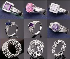 New Fashion gift! Wholesale Jewelry Solid Silver Men / Women Ring +Gift BOX925