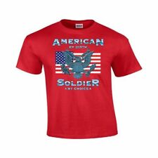 American Soldier by Choice Military USA Flag Patriotic Gildan Army T-Shirt #95