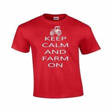 Keep Calm And Farm On -Funny Farming Tractor Keep Calm Novelty Gildan T Shirt