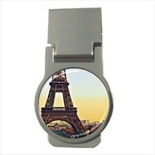 Eiffel Tower Paris France Chrome Money Clip