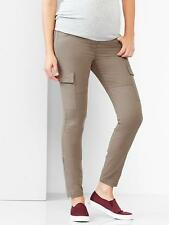 GAP MATERNITY SKINNY CARGO PANTS KHAKIS w/ SIDE ANKLE ZIPPERS  (khaki)