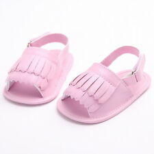 Summer Double Tassel Sandals Baby Boys Girls Cotton Ankle-strap Soft Sole Shoes