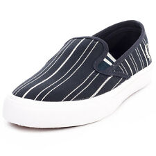 Fred Perry Turner Slip On Stripe Mens Fabric Navy Trainers