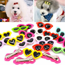 Pet Hair Clips Hair Bows Hair Accessories Grooming 2016 Sunglasses Cute Dog a