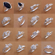 NEW 2016 Fashion Beautiful 925 Solid Silver Jewelry Chic Charm Lady/Girl Ring