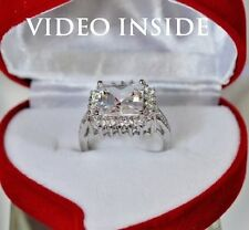3.8 Carat Engagement & Wedding  Engagement Rings Platinum Finish Made in Italy