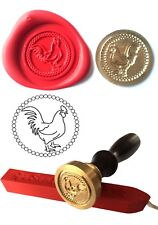 Wax Stamp Seal +1 stick red Wax CHICKEN Rooster Envelope Invite Craft Cards 147