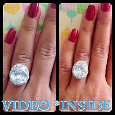 Fine 5.08CT Oval Cut Halo Ring Engagement Ring Wedding Ring 22KT S Made in Italy