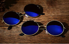 Sports Sun Glasses Retro Sunglasses Eyewear Goggle UV400 Shades Round Mirrored a