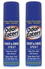 2 x Odor Eaters Foot & Shoe Deodorant Spray 150ml Odour-Free Feet Dry Shoes