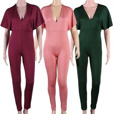 Women Summer Sexy V-Neck Bodycon Pants Overalls Jumpsuits Casual Rompers QT