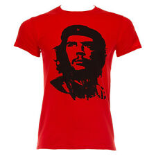 Brand New Mens Che Guevara Red Face Famous Retro Revolution Iconic T Shirt Tee