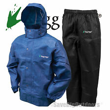 Black  Blue  Frog Frogg Toggs Togs ALL Sport Rain Gear Suit  L  Large New