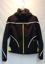 Spyder Womens Portillo Insulated Snow Ski Winter Jacket Black White Lime NEW