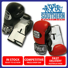 Punch Equipment Trophy Getters Boxing Gloves (PBG5) Red or Black Leather
