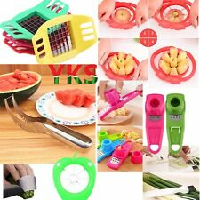 Convenient Watermelon Slicer Fruit Cutter Corer Scoop Stainless Steel Tool Hot N