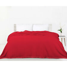 Accessorize Bedding NEW Burgundy Double Layer Polar Fleece Blanket