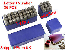36pc Letter & Number Stamp Punch Set Jewelry  Hardened Steel, Metal Wood Leather