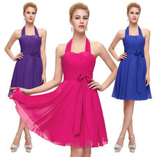 Halter Formal Ball Gown Dress Homecoming Party Prom Evening Bridesmaid Pageant