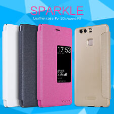 HOT Nillkin Fashion Sparkle Leather Window Phone Case Cover For HUAWEI Ascend P9