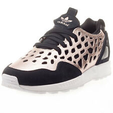 Adidas Originals Zx Flux Womens Suede & Mesh Black Gold Trainers New Shoes