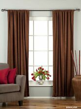 Brown Rod Pocket  Velvet Curtain / Drape / Panel  - Piece