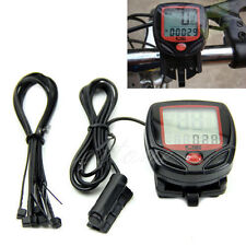 Bicycle Bike Cycling Computer LCD Odometer Speedometer Stopwatch Speed meter #L