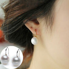 1 Pair Fashion Women Lady Elegant Pearl Crystal Rhinestone Ear Stud Earrings