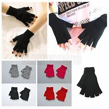 New Winter Warm Half Finger Unisex Gloves Flip Fingerless Knitted Mitten