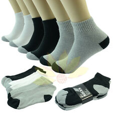 3 6 12 Pairs 2 TONES Ankle/Quarter Crew Mens Socks Cotton Low Cut Size 10-13