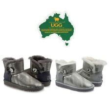 OzWear Connection UGG Mini Bailey Boots w/ Swarovski Bling